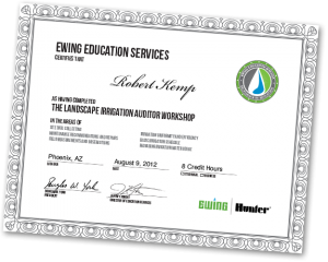 Certified Landscape Irrigation Auditor